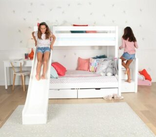 A sleep-over can be extra special if your bedroom provides a special element for fun.     #RoomsToGrow #Lifestyle #Instagood #Children #ParentingLife #Kids #YouthFurniture #ShopRhodeIsland #BabysRoom #Family #LetThemBeLittle #Parenthood 