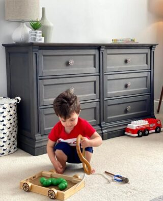 Growing children play and get dirty, so they need more clothes, which means more drawers. This handsome Imperio double dresser meets that need.       #RoomsToGrow #Lifestyle #Instagood #Children #ParentingLife #Kids #YouthFurniture #ShopRhodeIsland  #Family #LetThemBeLittle #Parenthood #ModernKidsRoom #ClassicNursery #KidsRoomInspiration  #KidsRoom #SimpleKidsRoom #KidsRoomInspo