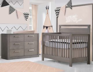 Baby needs and style blend comfortably, Don't you agree?          #RoomsToGrow #Lifestyle #ParentingLife #ShopRhodeIsland  #Family #LetThemBeLittle #Parenthood #BabyCribs #ModernNursery #ClassicNursery #NurseryInspiration  #BabyRoom #SimpleNurseries #ElegantNurseries #NurseryInspo #PackageDeals #ConvertibleCrib