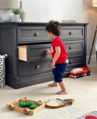 Life is a bit less stressful when they are in the baby stage.  But when baby reaches toddler age, the picture changes. Easy close drawers may become garages for toy trucks.  See safe handy features in furniture at Rooms to Grow.     #RoomsToGrow #Lifestyle #Instagood #Children #ParentingLife #Kids #YouthFurniture #ShopRhodeIsland #BabysRoom #Family #LetThemBeLittle #Parenthood
