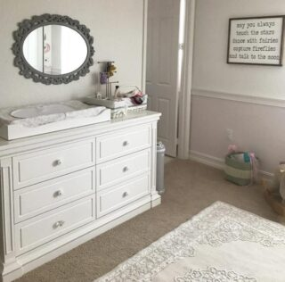 Baby furniture can be stylish and multi-functional. This double dresser starts off as a changing table for your baby, ideal for diaper duty; and will serve as a dresser to store all their clothing for years to come.