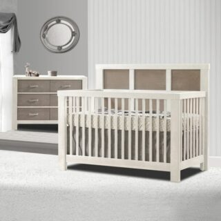 Just received the wonderful news that you are expecting and want to get a head start on the nursery? Add our Rustico Three Piece Crib Package to your registry for three fewer things to worry about.