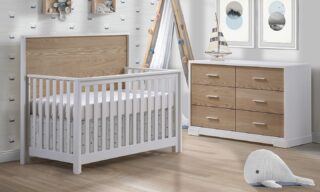 Style and substance: crib sets for your baby are designed for today, and maybe tomorrow. Crib sets may grow with your child. Just ask us how.
