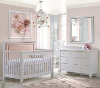 Roses are red, violets are blue, it won't be long before your baby is due.  Here's an option, white cribs can be used for boys or girls, it all depends on how you dress it up! Pink for girls or navy and white for boys.   