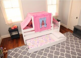Perfect for little princesses, this Matrix Bed setup offers the whimsical feel of adventure while also providing a place to lay their head after tea time. 